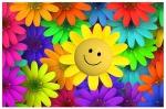 Sol smiley m blommor